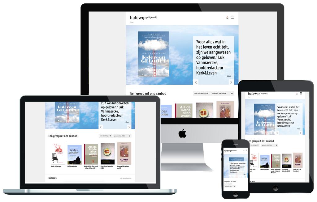 Halewijn homepagina op verschillende devices
