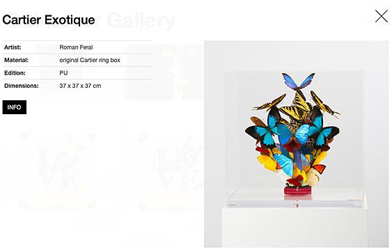 info-fiche van een geselecteerd werk dd. 10/2019 Cafmeyer Gallery