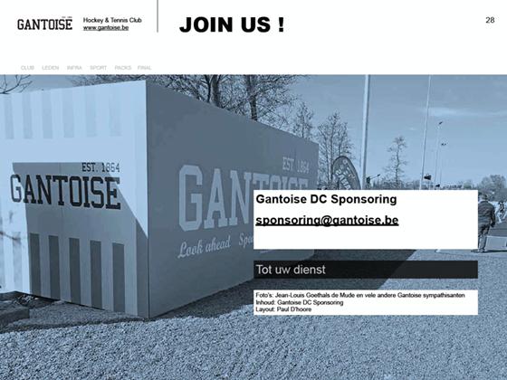 afsluitende slide Gantoise sponsoring presentatie