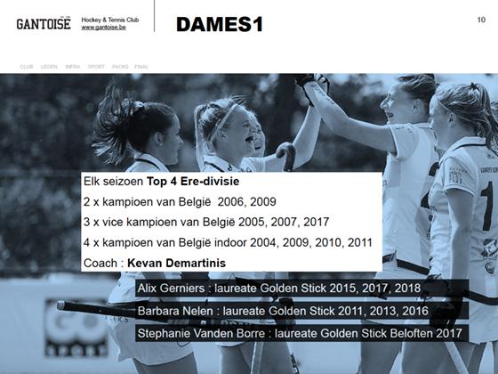 slide palmares Dames1 team Gantoise