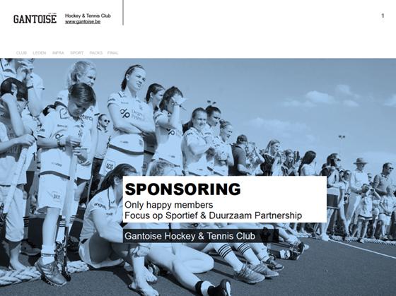 start-slide Gantoise sponsoring presentatie