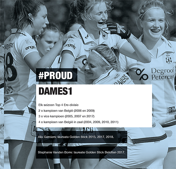 pagina met palmares Gantoise Dames1