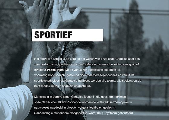 pagina over de sportieve kern van Gantoise