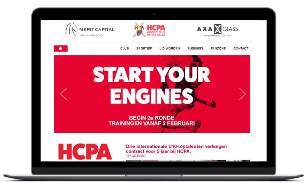 Schermafbeelding HCPA homepage