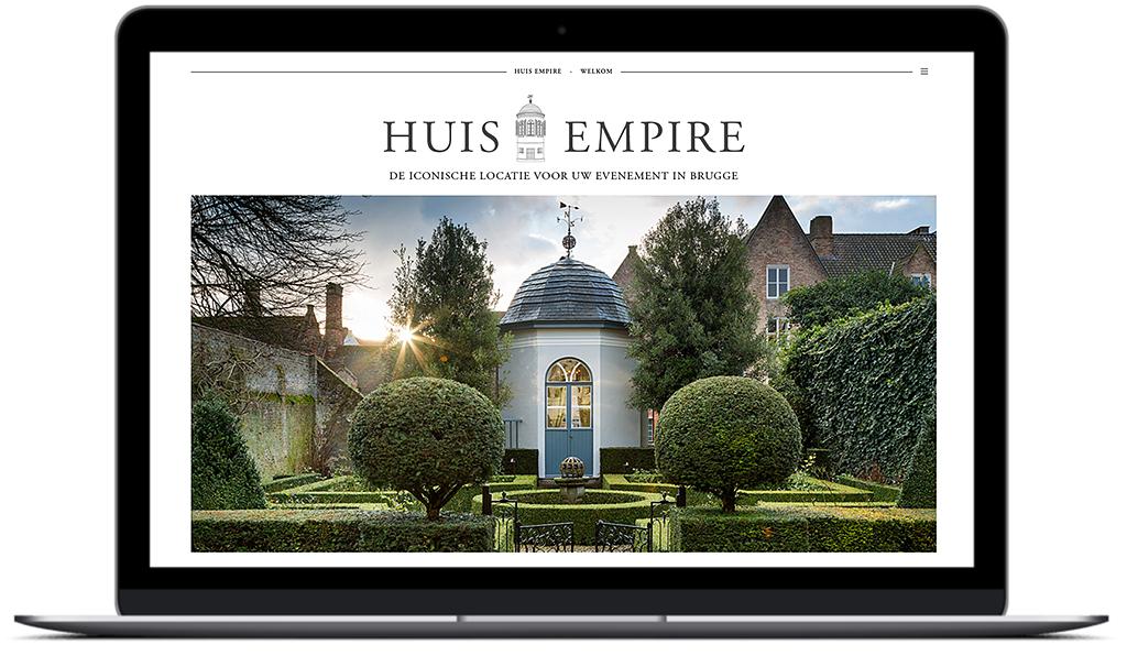 Homepagina huis-empire.be met hoofdfoto credit: Jurgen de Witte