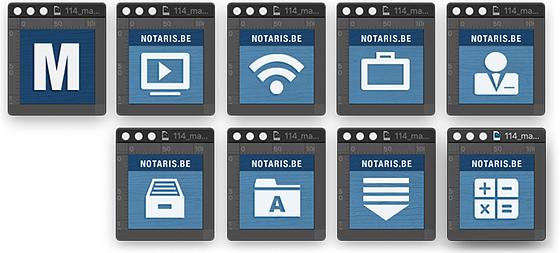 m.notaris snelkoppeling-mavicons voor het beginscherm van smartphone of tablet