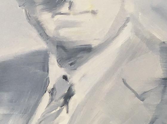 detail 'member of the board', éénkleurig figuratief, paul d'hoore