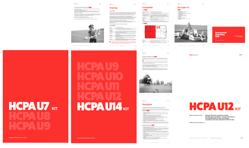 Spreads uit HCPA teamkits